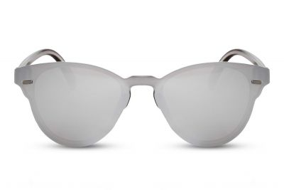 Clubmaster Round Silver Flat